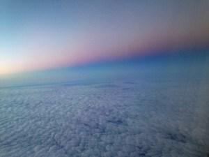 Pink and blue sunrise appropriately during Pregnancy and Infant Loss Awareness month. Spotted on a flight back from saying goodbye to my chosen grandpa.