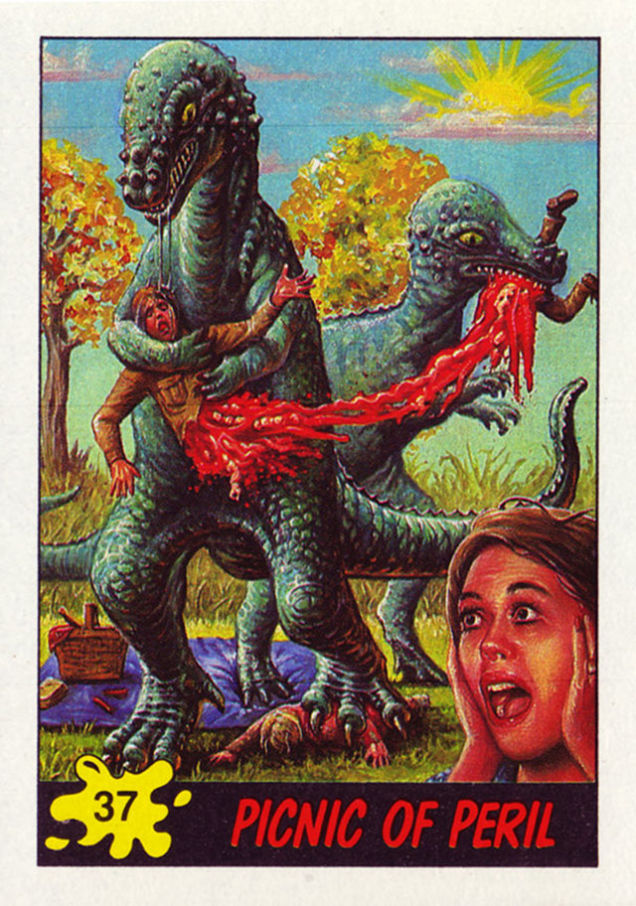 Remember When Topps Fed A Baby To A Dinosaur
