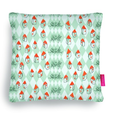 walking down the road pillow by youdesignme
