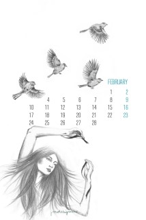 february by-youdesignme-iphone-4G