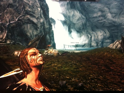 A serine camp scene, ruined by the brutal tearing of flesh caused by an arrow to the young Forsaken's neck.