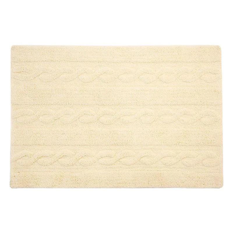 tapis coton tresse vanille 120 x 80