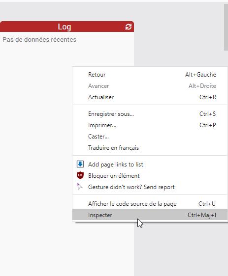 Image pour inspecter la page