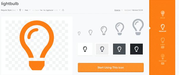 Icone ampoule vide détaillée