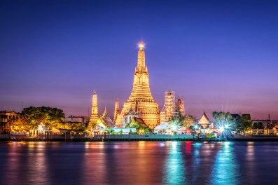 panorama wat arun bangkok