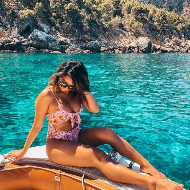 jenny chu on boat in mallorca