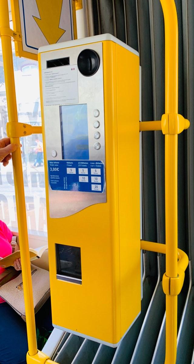 Buy tickets the tram
