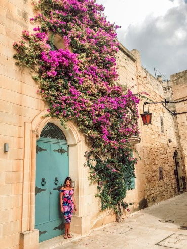 Blue Door at Mdina How To Travel Around Malta On A Budget