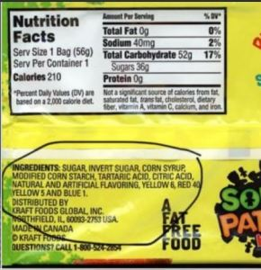 Sour Patch Kids that are vegan and vegetarian friendly and don't list gelatin.