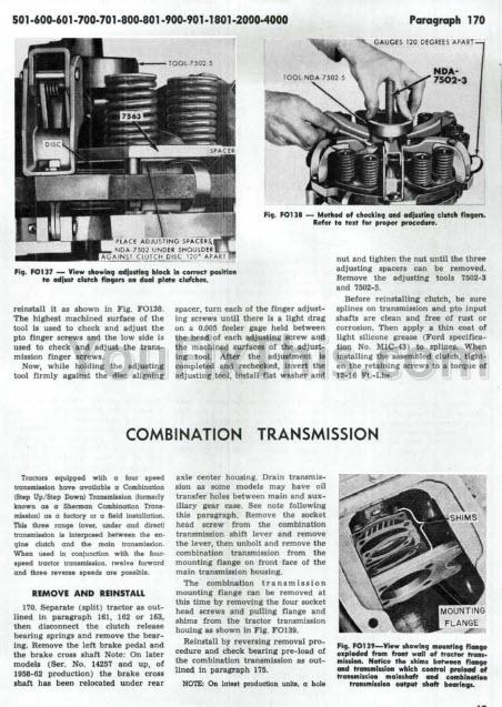 Ford New Holland 501  U2013 4121 Repair Manuals  Tractor