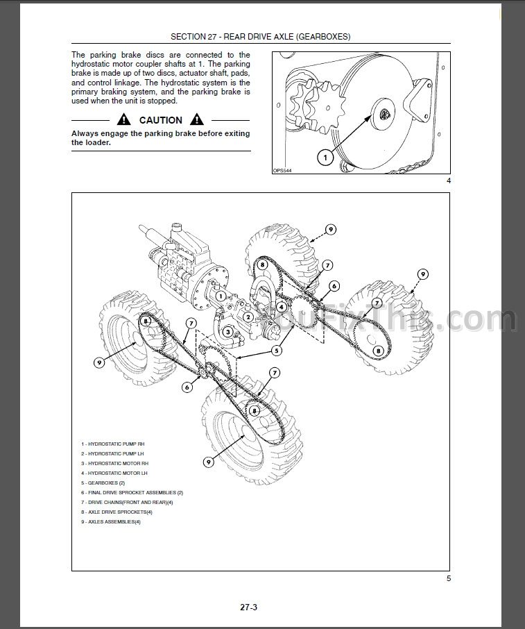 New Holland L160 L170 Repair Manual [Skid Steer Loader