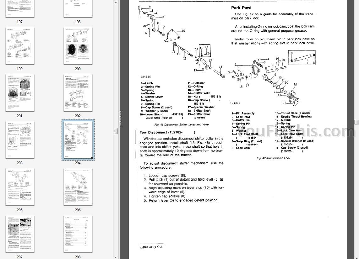 John Deere JD510 Repair Manual [Loader Backhoe]