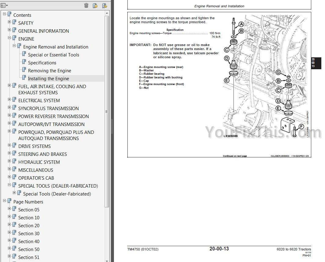 John Deere To Repair Manual Tractors Youfixthis