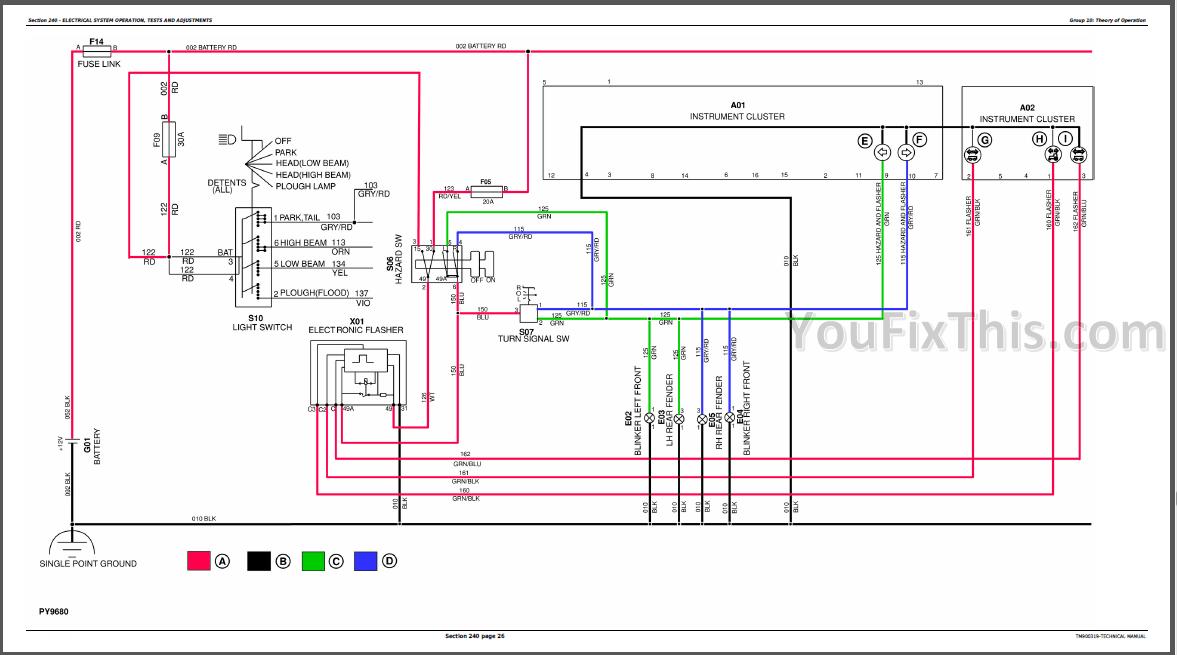 [CSDW_4250]   John Deere 5050E 5055E 5065E 5075E Repair Manual [Tractor] – YouFixThis | John Deere 5065e Wiring Diagram |  | YouFixThis