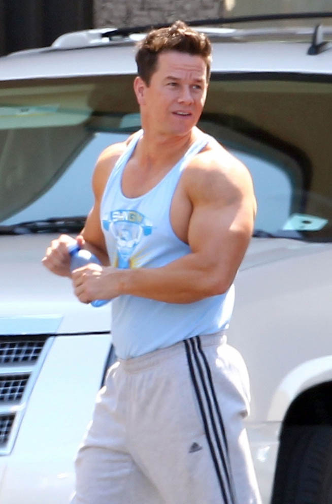 Mark Wahlberg And After Muscle