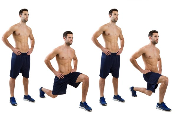 body weight exercises lunges