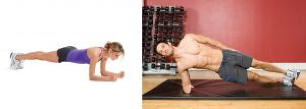 body weight exercises side planks planks