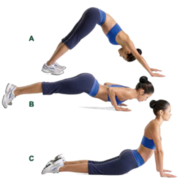 body weight exercises dive bomber push ups