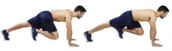 body weight fitness mountain climbers