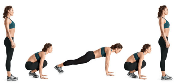 body weight exercises burpees