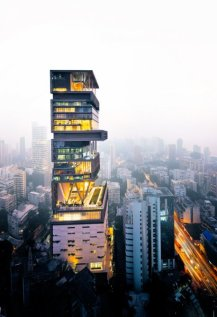 worlds most exensive home, antilia building,Mukesh Ambani's, india,South Mumbai
