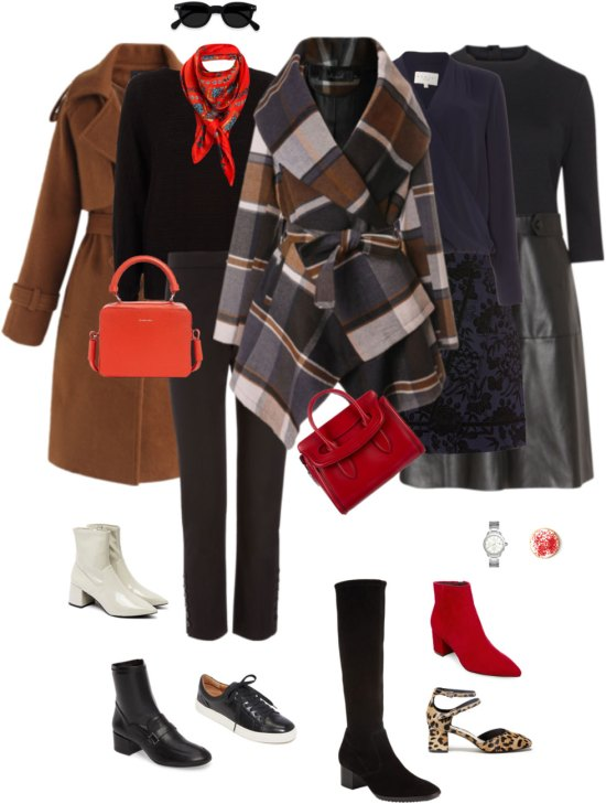 Ensemble: Black, Cinnamon and Red