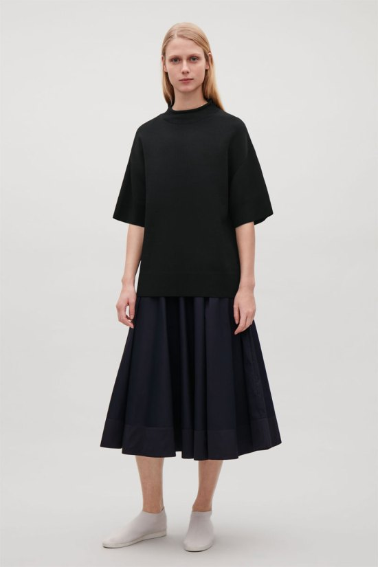 COS Merino Top with Raised Neck