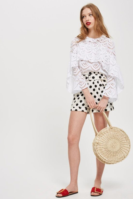 Topshop Polka Dot Shorts