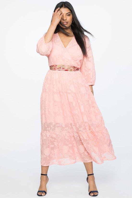 Eloquii Burnout Chiffon Maxi Dress