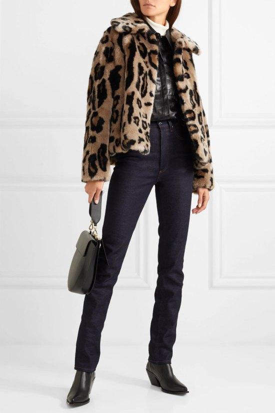 STAND Gilbertine Leopard-print Faux Fur Jacket