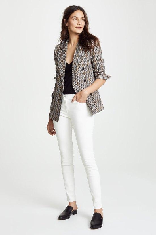 J Brand 620 Mid-Rise Coated Skinny Jeans