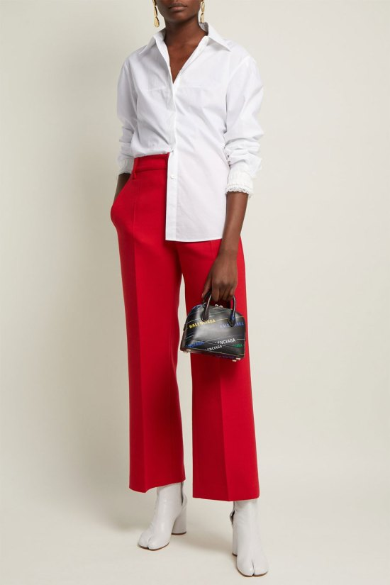 MM6 Maison Margiela High-rise Straight Leg Trousers