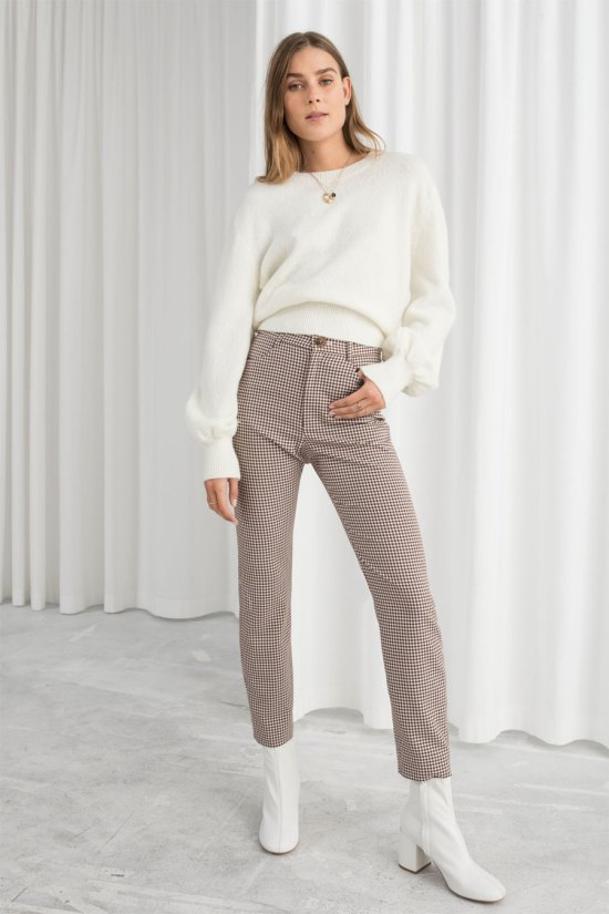 & Other Stories High Waist Gingham Pants