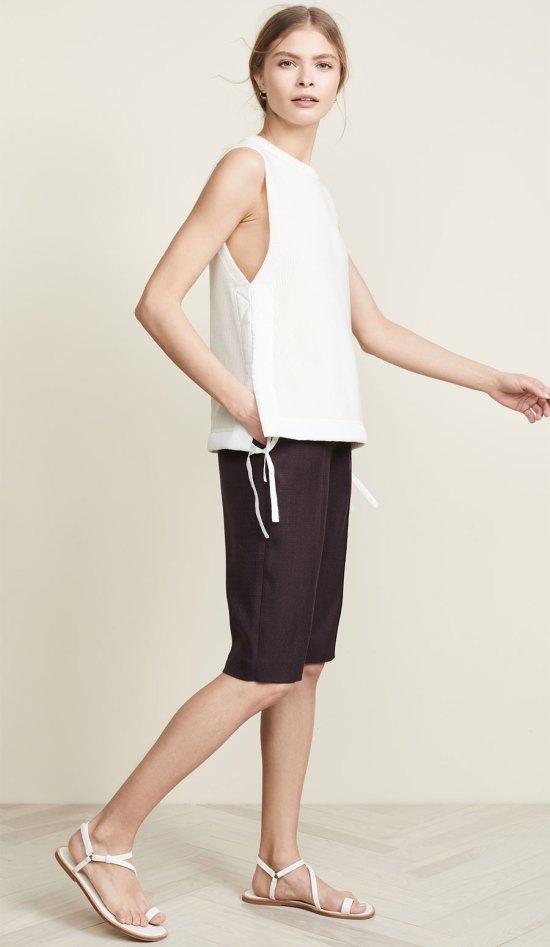 Adam Lippes Stretch Canvas Bermuda Shorts