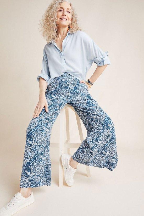 Anthropologie Anika Knit Wide-Leg Pants