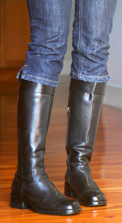 Clamdiggers With Knee High Boots YLF