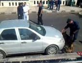 فحص أمنى لسيارات يشتبه أنها مفخخة بالعريش شمال سيناء