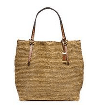 Michael Kors Collection Large Raffia Tote