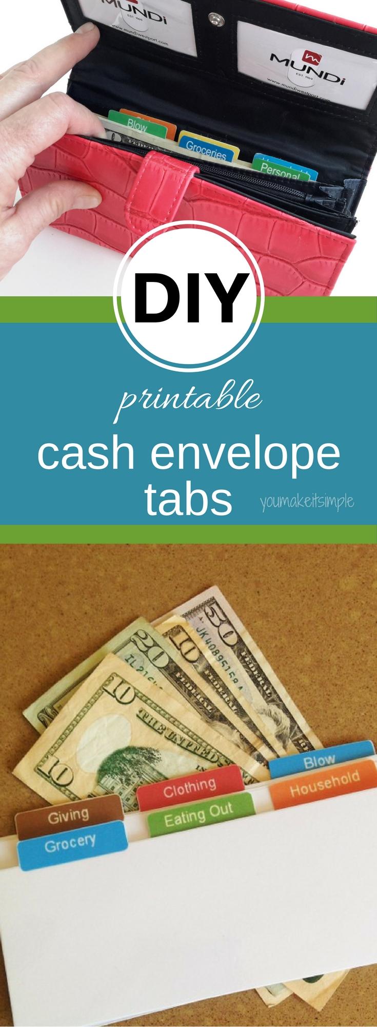 printable cash tabs