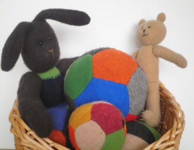 upcycled sweater toys