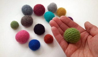 Upcycled Felted Wool Sweater Balls