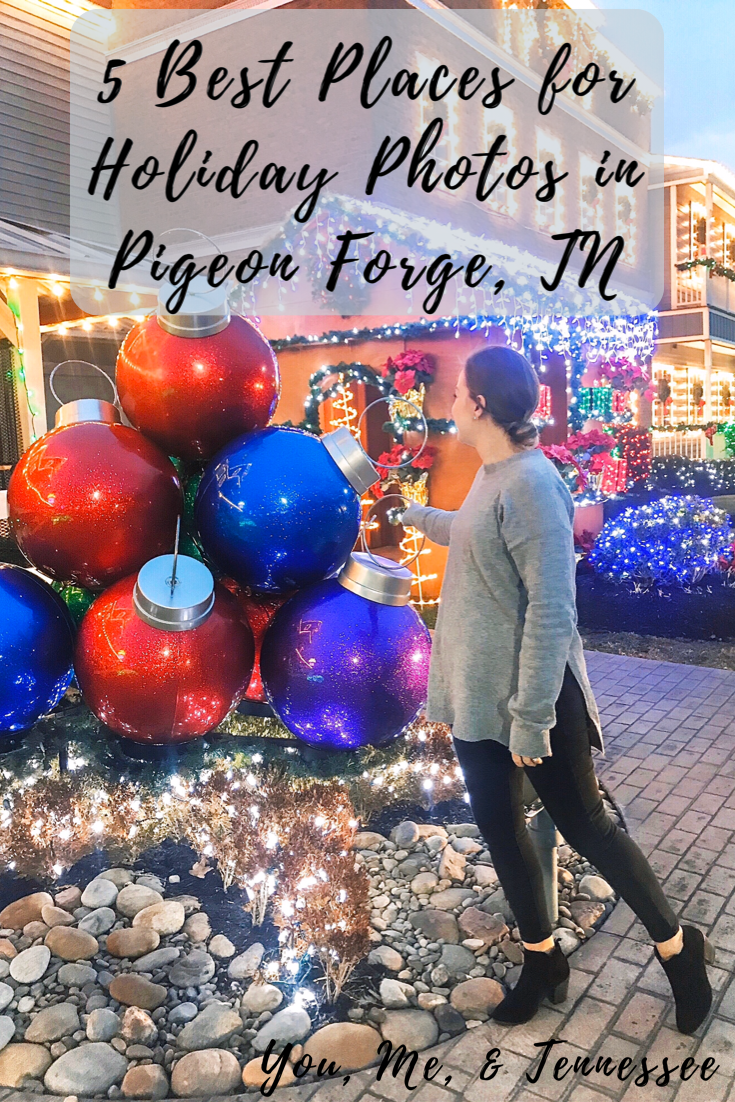 5 best places for holiday photos in pigeon forge tn