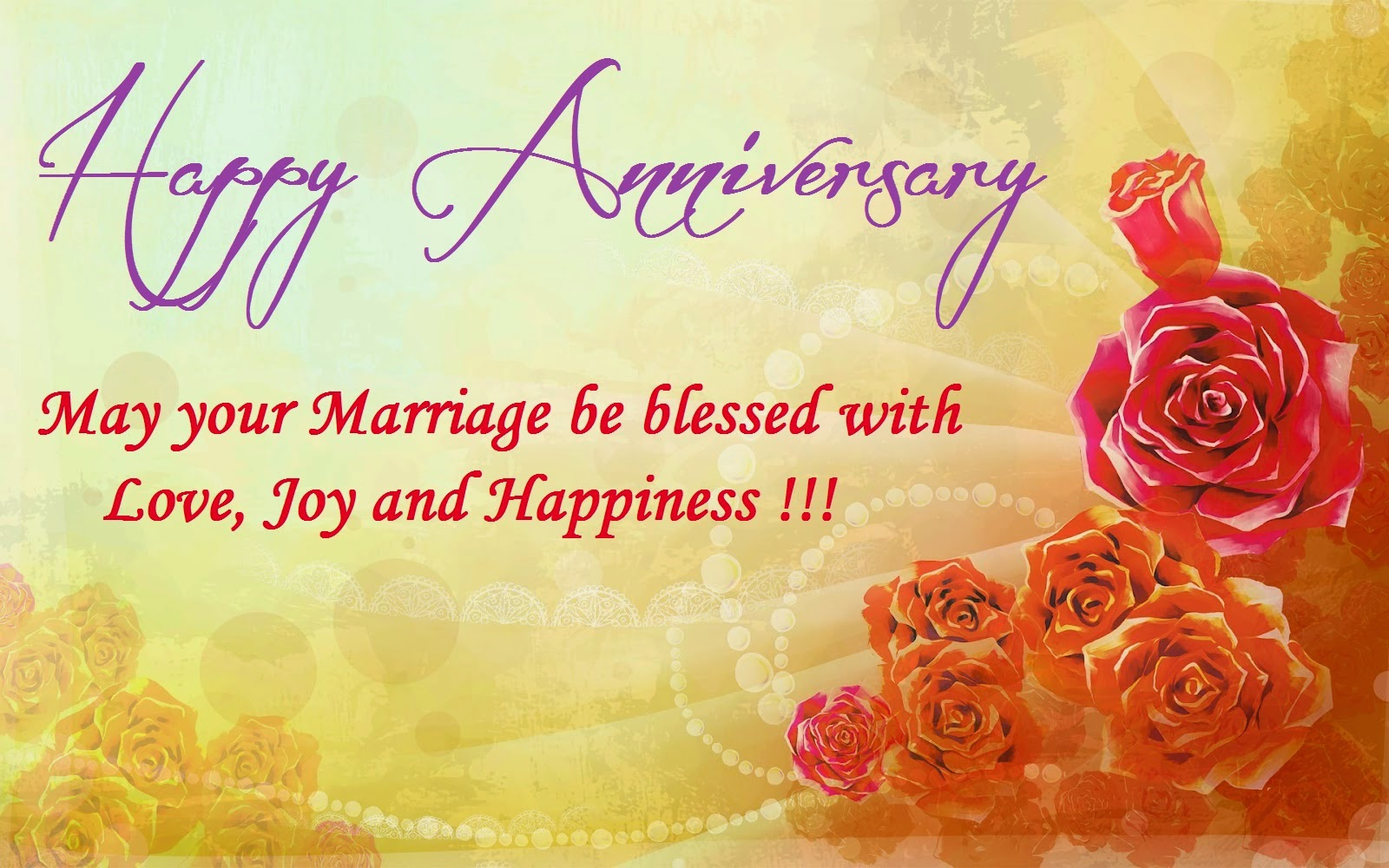 Top 50 Beautiful Happy Wedding Anniversary Wishes Images Photos Messages Quotes Gifts For ...