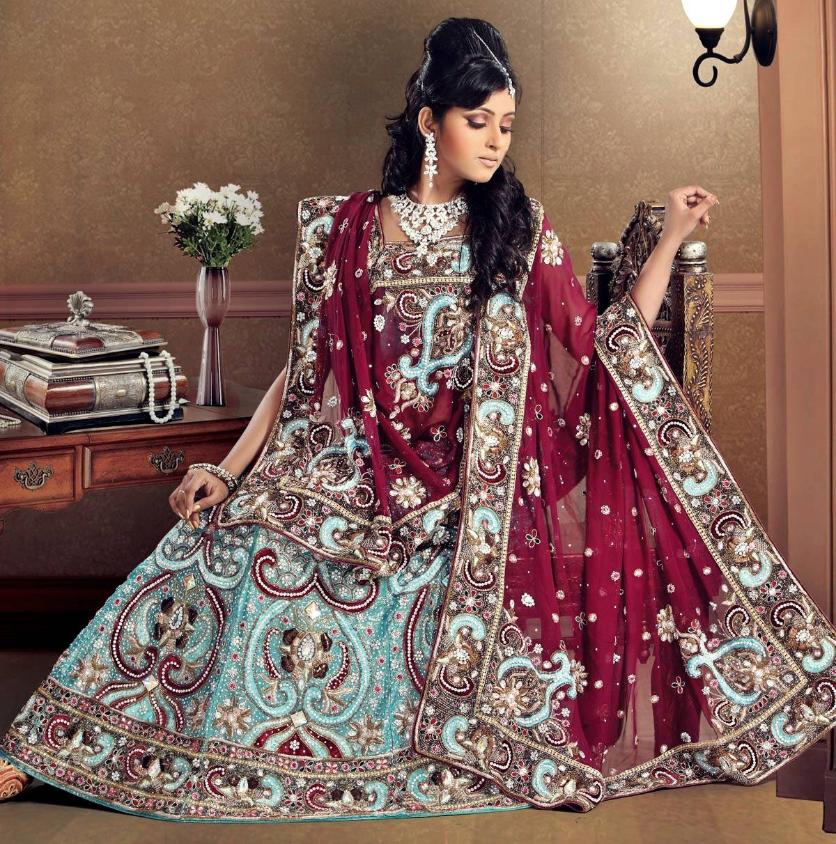 Top 50 most stunning beautiful bridal lehangas dream for Wedding dresses online in india