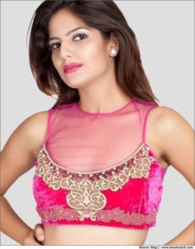 net embellished blouse design