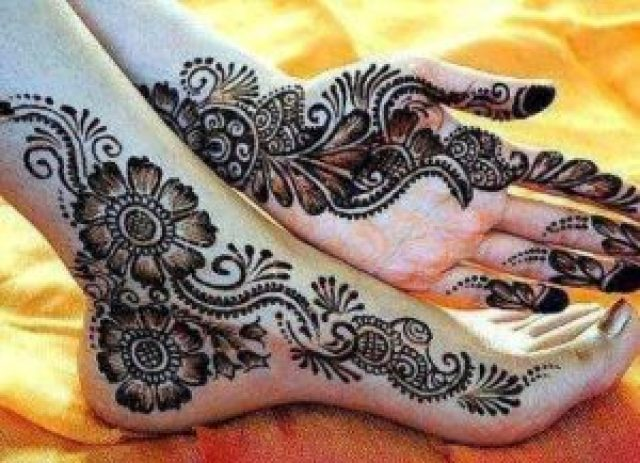 karva chauth mehndi design for newly married