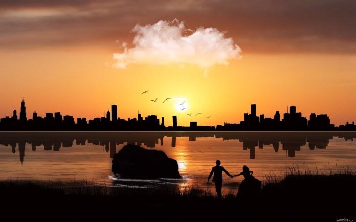 Sunset HD Wallpaper For Tab
