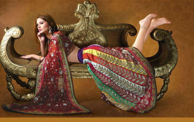 colorful bridal lehanga