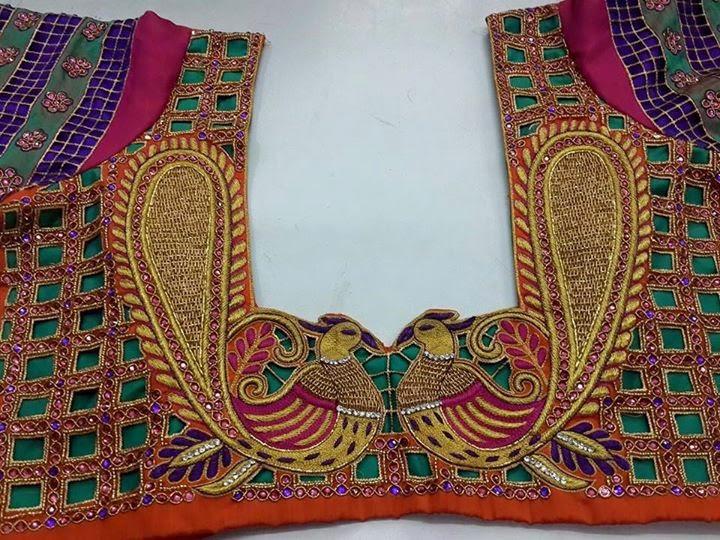 Latest embellished saree blouse designs patterns