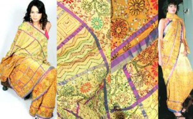 kantha work blouse design